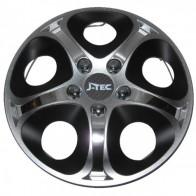 J-TEC (Jacky) Колпаки Enfinitiy silver-black R15 (Комплект 4 шт.)
