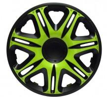 J-TEC (Jacky) Колпаки Nascar Green-Black R15 (Комплект 4 шт.)