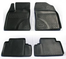 L.Locker √лубокие резиновые коврики в салон Toyota Avensis (09-)