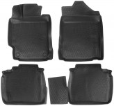 L.Locker Глубокие резиновые коврики в салон Toyota Camry 2011-2014