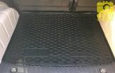 Резиновый коврик в багажник VW Caddy 2004-2015- (без пластиковой обшивки)