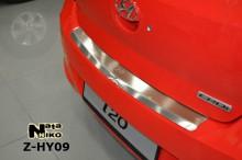 Nataniko Накладка на бампер с загибом Hyundai i20 FL 2012-2015
