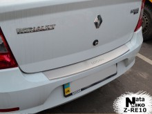 Накладка на бампер с загибом Renault Losan sedan 2013- Nataniko