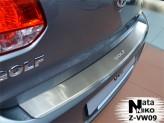 Nataniko Накладка на бампер с загибом Volkswagen Golf 6