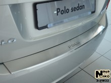 Nataniko Накладка на бампер с загибом Volkswagen Polo sedan 2010-2015
