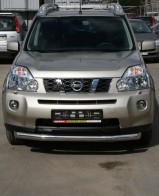 Защита передняя Nissan X-Trail (T31) 2007-2014 (труба одинарная d 60) UA Tuning