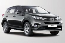 Защита передняя Toyota RAV4 2012- (труба одинарная d 60)