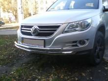 UA Tuning Защита передняя Volkswagen Tiguan 2007-2011- (труба двойная d 60/42)