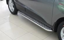 Пороги Hyundai ix35 (труба d 60 с листом)
