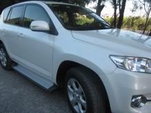 Пороги Toyota RAV4 2006-2012 (алюминиевый профиль)