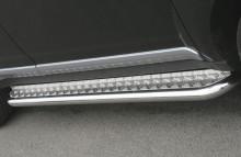 Пороги Toyota RAV4 2006-2012 (труба d 42 с листом)