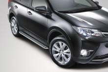 Пороги Toyota RAV4 2012- (труба d 60 с листом) UA Tuning
