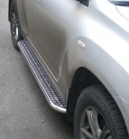 Пороги Toyota Highlander 2007-2013 (труба d 60 с листом)