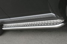 UA Tuning Пороги Volkswagen Tiguan 2007-2011- (труба d 60 с листом)