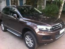 Пороги Volkswagen Touareg 2010- (алюминиевый профиль)