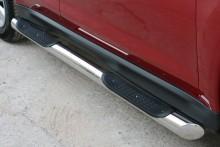 Пороги Chevrolet Captiva 2006- (труба d 70 с проступью) UA Tuning