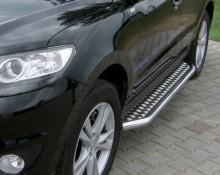 UA Tuning Пороги Hyundai Grand Santa Fe 2013- (труба d 42 с листом)