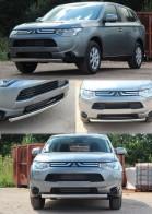 UA Tuning Защита передняя Mitsubishi Outlander 2012- (труба одинарная d 60)