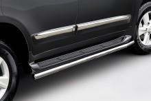 Защита штатного порога Toyota Land Cruiser 200 (труба d 60)