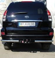 UA Tuning Защита задняя Toyota Land Cruiser Prado 120(уголки одинарные d 60)