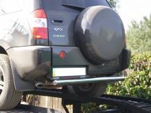 Защита задняя Chery Tiggo 2005-2011 (труба одинарная d 70) UA Tuning