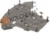 Кольчуга Защита двигателя, коробки передач, радиатора Audi A4 B6/A4 В7 2000-2008