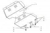 Кольчуга Защита двигателя, радиатора Great Wall Hover 2005-2010 Safe