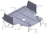 Защита двигателя, коробки передач, радиатора Hyundai i20 2008-2012