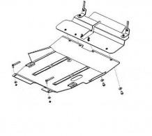 Кольчуга Защита двигателя, коробки передач, радиатора Mitsubishi Outlander 2003-2010
