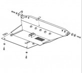 Защита двигателя, коробки передач, радиатора Toyota RAV 4 00-06