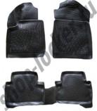 Глубокие резиновые коврики в салон Ford Connect 2002-2013