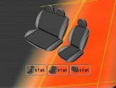 DeLux Чехлы на сиденья Mercedes Sprinter 2006- (1+2)