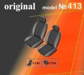 DeLux Чехлы на сиденья Renault Kangoo 2008-2013- (1+1)