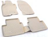 Резиновые коврики Infiniti G 35 2002-2010 БЕЖЕВЫЕ